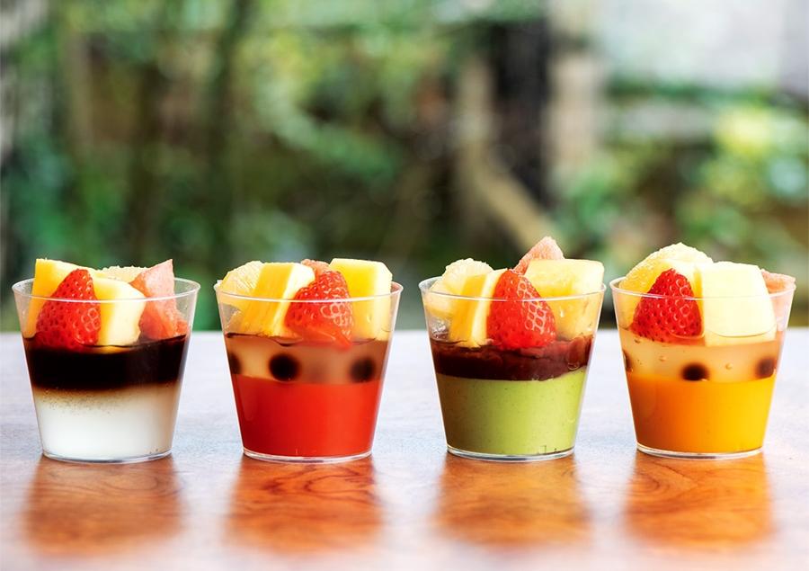 フルーツ入甘味4種のジュレ